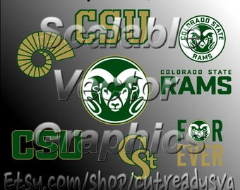 CSU Vector Designs - Cut Files - svg / dxf / eps