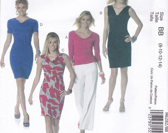 FREE US SHIP McCall's 6282 Sewing Pattern Palmer & Pletsch Wiggle Dress Blouse Size 8 10 12 14 Bust 31.5 32.5 34 36 Factory Folded
