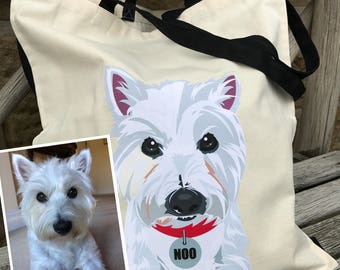 Tote Bag  - Custom Dog Tote Bag - Dog Tote Bag - Customised Tote Bag - Personalised Dog Bag - Dog Bag