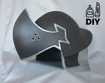 DIY Final Fantas VII: Shinra soldier helmet templat for EVA foam
