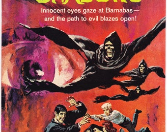 Dark Shadows 15. Vampire, Dracula, Horror Comic. Bats, scary Halloween, TV Show book, Barnabas, blood curse. 1972 Gold Key in VF+ (8.5)