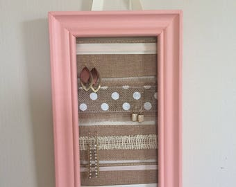 Pink Rectangular Earring Hanger