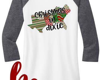 Christmas in Dixie} Christmas} Christmas in the South} Southern Christmas}Raglan Shirts by HeadSouthApparel