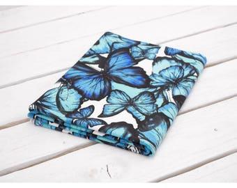 butterflies jersey fabric, women jersey, fabric, knit fabric, cotton fabric, kids fabric, fabric yardage, fabric for sewing, knit fabric