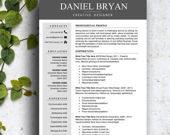 resume template instant download professional resume template creative resume template for word simple