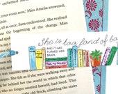 Bookshelf Bookmark - literary - bookmark - Louisa May Alcott Quote