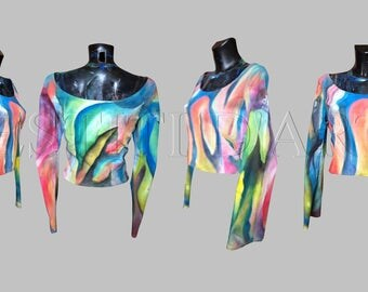 PAINTED BOHO TOPS womens clothing womens dresses plus size maxi dress plus size african clothing plus size tops boho gift for womens