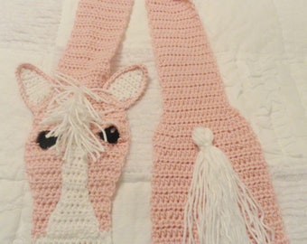 Youth Pink Horse Scarf