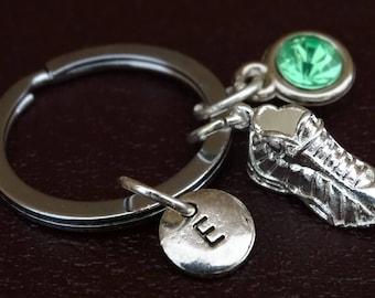 Runner Keychain, Runner Key Chain, Running Shoe Charm, Running Shoe Pendant, Runner Girl, Runner Dad, Running Keychain, Running Key Chain