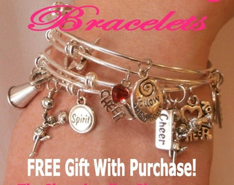 Cheerleading jumps ebook cheerleading coach cheerleading cheerleading charm bangle bracelet set of 4 silver cheerleading jewelry cheerleading gift cheerleader fandeluxe PDF