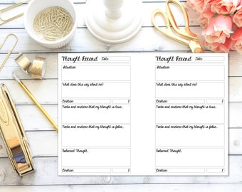 A5 Size Rings  - Thought Record - Planner Insert