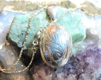 Locket Sterling Silver Necklace
