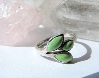 Turquoise Sterling Silver Ring Size 5.75