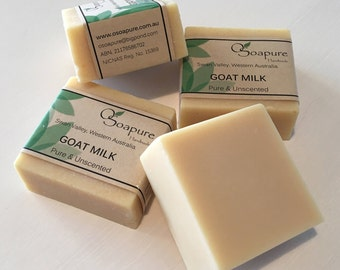 Goat Milk ~ Pure and Unscented Cold Process Soap