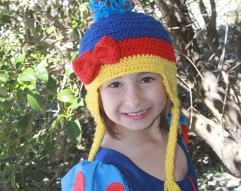 Girls Snow White hat // Baby Snow White hat //  Disney Snow White girls hat