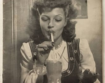 Vintage Life Magazine January 18, 1943 - Rita Hayworth Cover Girl / Great WWII Era Ads and Articles!
