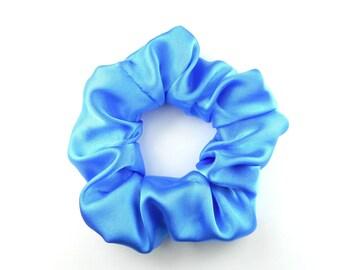 Scrunchie, scrunchies - satin blue