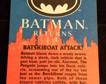 """Vintage 1992 Topps Batman Returns Trading Card, """"Batskiboat Attack"""" #78"""