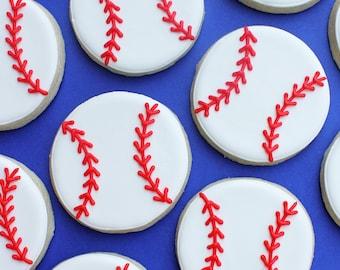 Baseball Decorated Sugar Cookies