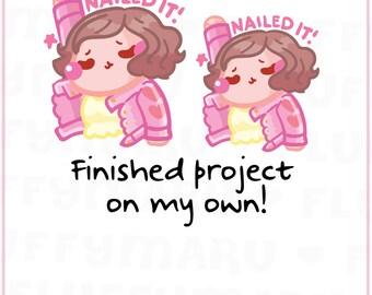 Nailed It Sammie || Planner Stickers, Cute Stickers for Erin Condren (ECLP), Filofax, Kikki K, Etc. || SFS166