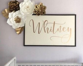 4 pc Paper Rose Flower Set, Nursery Decor, Bedroom, Paper Roses, Paper Flower Wall Decor,  Customize your colors