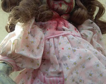 Haunted doll with bloody eyes! Free Shipping in USA!