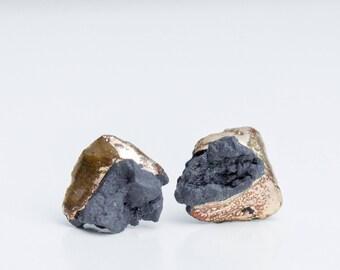 OOAK ceramic jewelry, ceramic earrings, porcelain jewelry, porcelain stud earrings, porcelain earrings, contemporary earring, unique earring