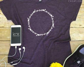 Love T-shirt - Valentine's Day T-shirt - Besties T-shirt - Friendship T-shirt - Purple T-shirt - Love Tee - Custom Designed T-shirt - KCK