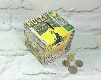 Gifts for Cyclists, Money Box, Cycling Art, Piggy Bank, Cycling Gifts, Bicycle Gifts, Bicycle Art, Bicycle Accessories, Cyclists Money Box
