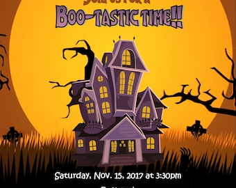 Spooky house invite