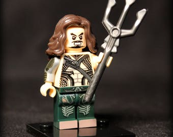New Special Edition Aquaman from Justice League Custom DC Minifigure. Lego Compatible.