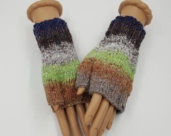 Fingerless Mitts, Fingerless Gloves, Hand Warmers, Wrist Warmers, Texting Mitts, Texting Gloves, Noro Mitts, Noro Gloves, Hand Knit Mitts