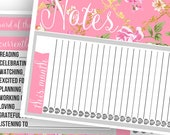 Grey Rose Notes Pages Kit - Planner Stickers