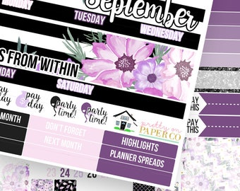 Wildflower Monthly Kit (CHOOSE YOUR MONTH!)- Planner Stickers