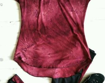 Women's tie dye tunic t shirt
