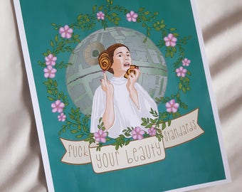 Princess Leia, Feminist Print, Carrie Fisher, Star Wars Poster