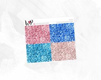 Rosé Glitter Headers | Matte Glossy Planner Stickers