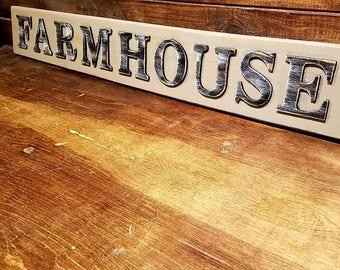 Wood FARMHOUSE Sign