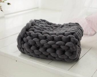 Knitted blanket, Giant blanket, Merino wool blanket, Wool blanket, Super chunky blanket, Chunky blanket, Huge blanket, Extreme knitting