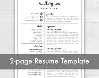 2 page resume template resume icons resume design resume template word resume - 2 Page Resume Template