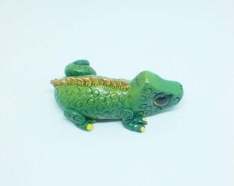 OOAK Chameleon figurine, Polymer clay Chameleon, Clay Chameleon, Cute Chameleon, Chameleon sculpture, Chameleon figurine