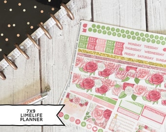 Monthly Planner Stickers Kit Made To Fit The 7x9 Limelife Planner | You pick the month! 194L1-2