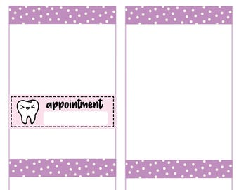 Dentist appointment Stickers, Planner Stickers -016
