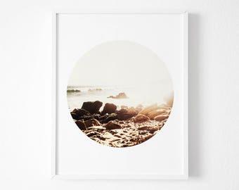 Circle Photography, Sunset Wall Art, Gold Photography,Gold Circle, Yellow Circle, Sunset Wall Prints, Digital Wall Print, Coastal Wall Art