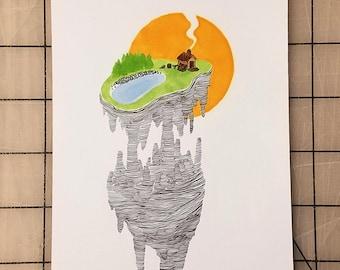 Nice, Quiet Place — Original Drawing