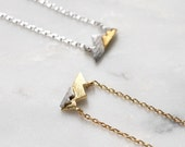 Tiny Mountain Peaks Minimal Delicate Necklace, Travel Scenery Vacation Destination Gift, Boho Mom Bridesmaid Gift, Outdoors Lover Gift