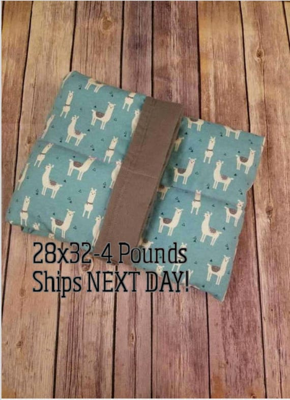 Llama, 4 Pound, WEIGHTED BLANKET, Ready To Ship, 4 pounds, 28x32, for Autism, Sensory, ADHD, Calming, Anxiety,