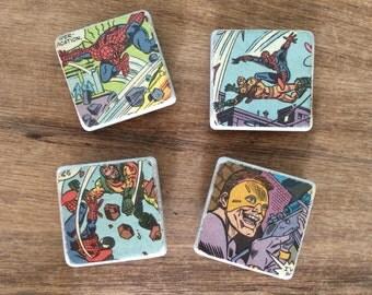 Vintage Spider Man Comic Book Magnets