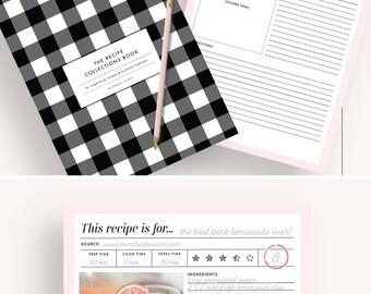 recipe binder, recipe book, recipe organizer, printable recipe, recipe planner, recipe card, recipe binder kit, recipe book binder, pages