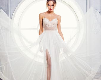 """New collection/ """"Adel"""" gown/ Romantic Bridal desses/ Tulle pearls/  Wedding gown/bridal gown"""